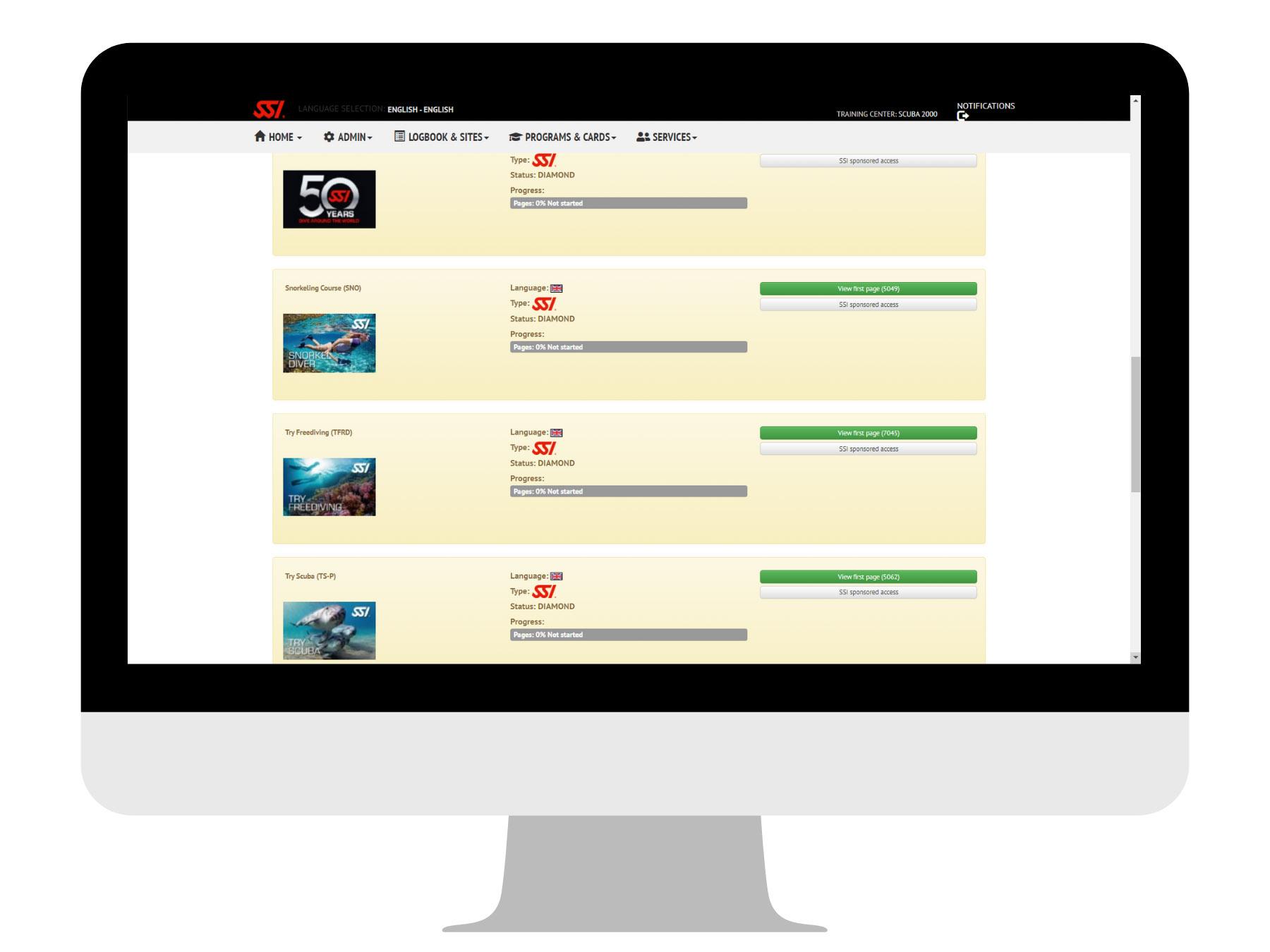 Scuba 2000 - MySSI - free online SSI courses